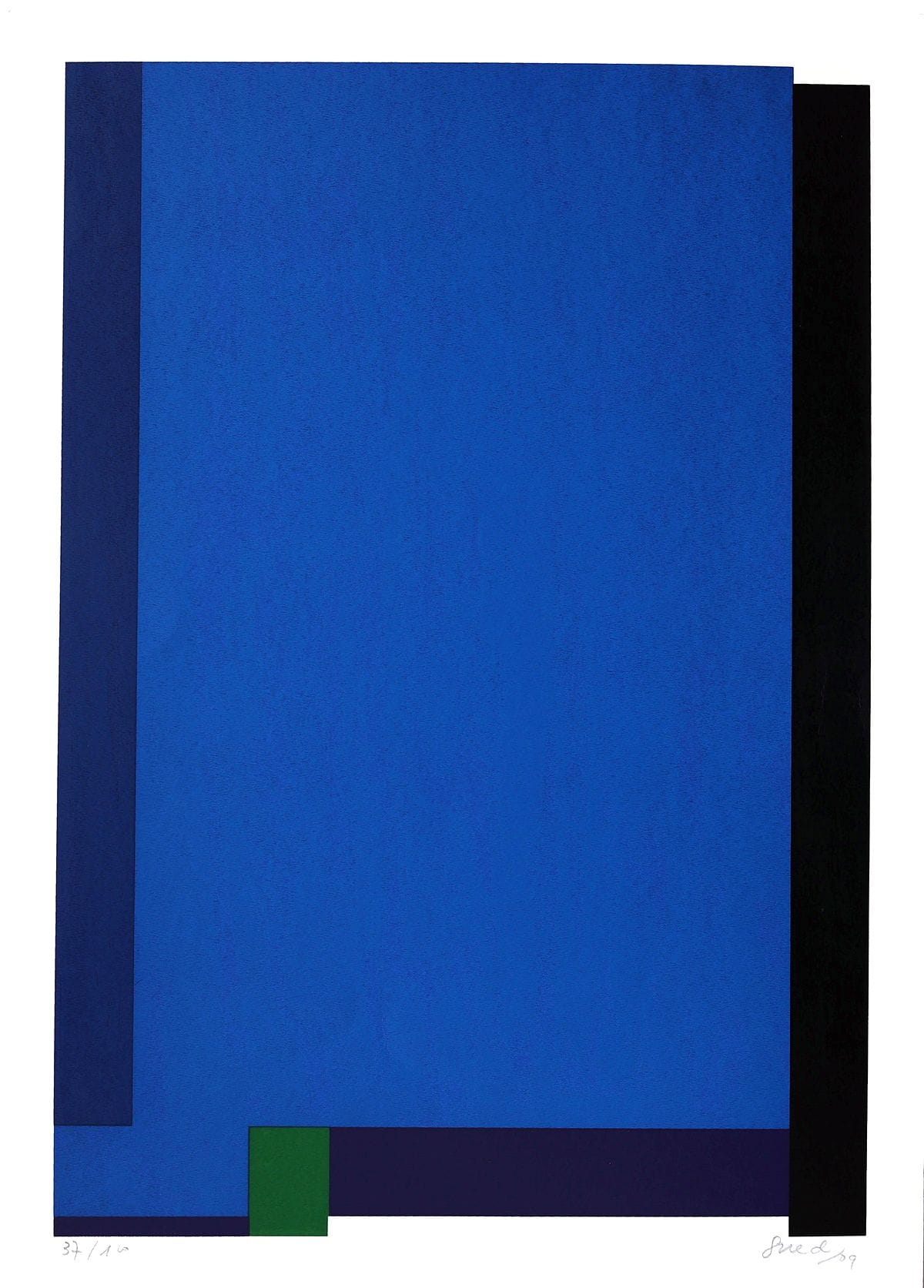 Abstração Geométrica em Azul I