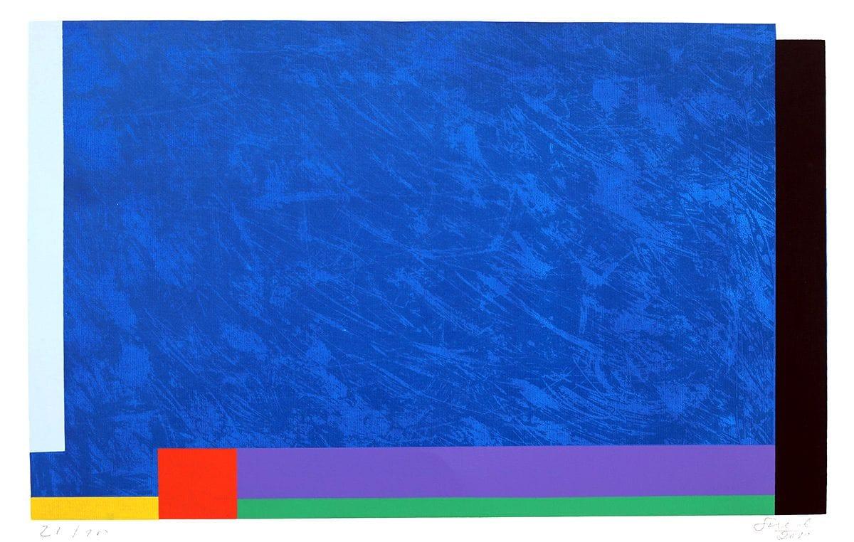Abstração Geométrica em Azul