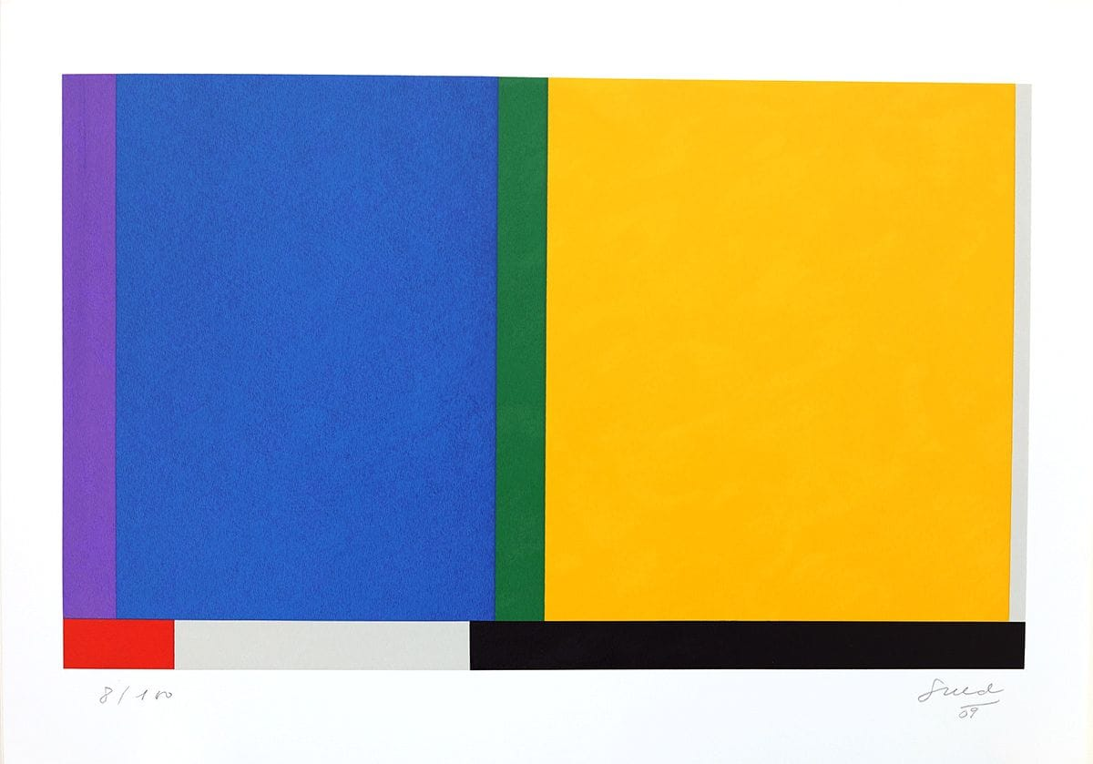 Abstração Geométrica em Azul e amarelo