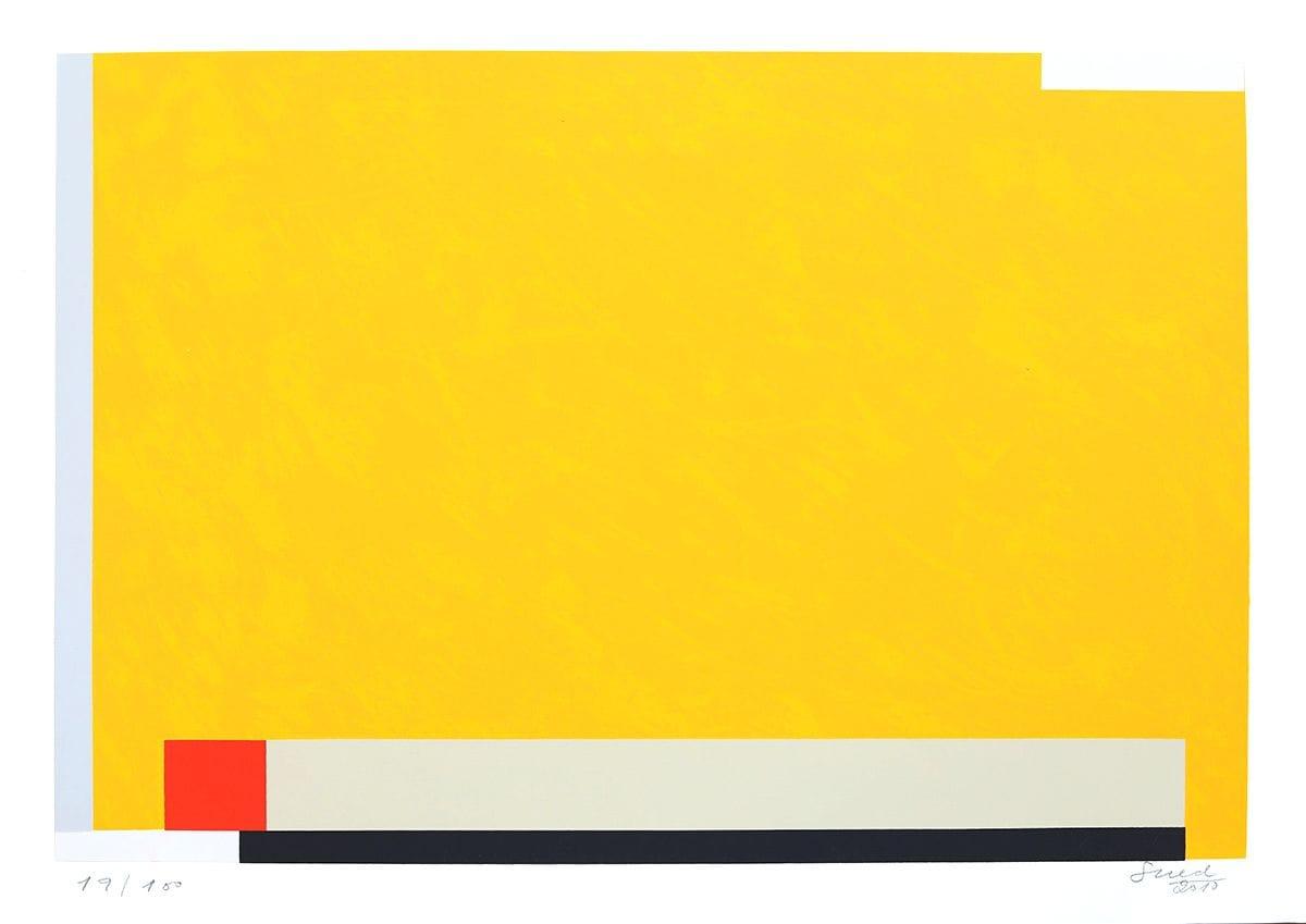 Abstração Geométrica em Amarelo
