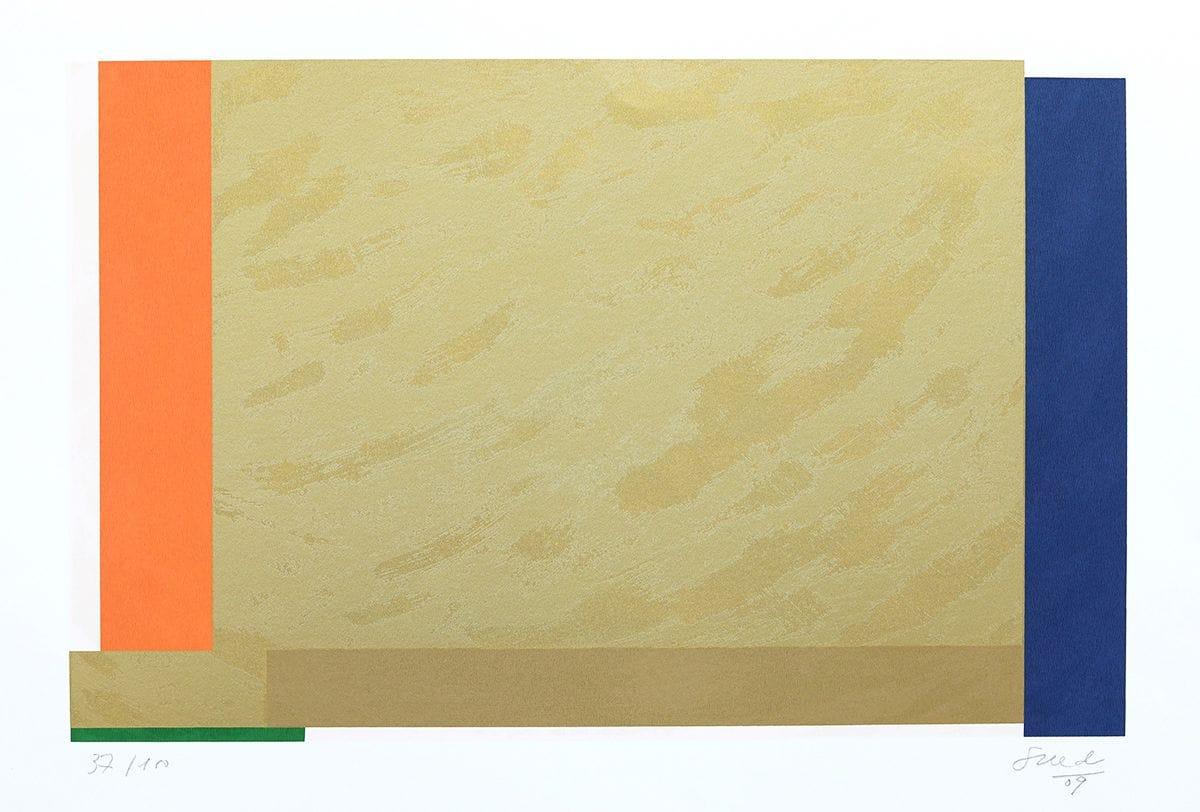 Abstração Geométrica em Dourado