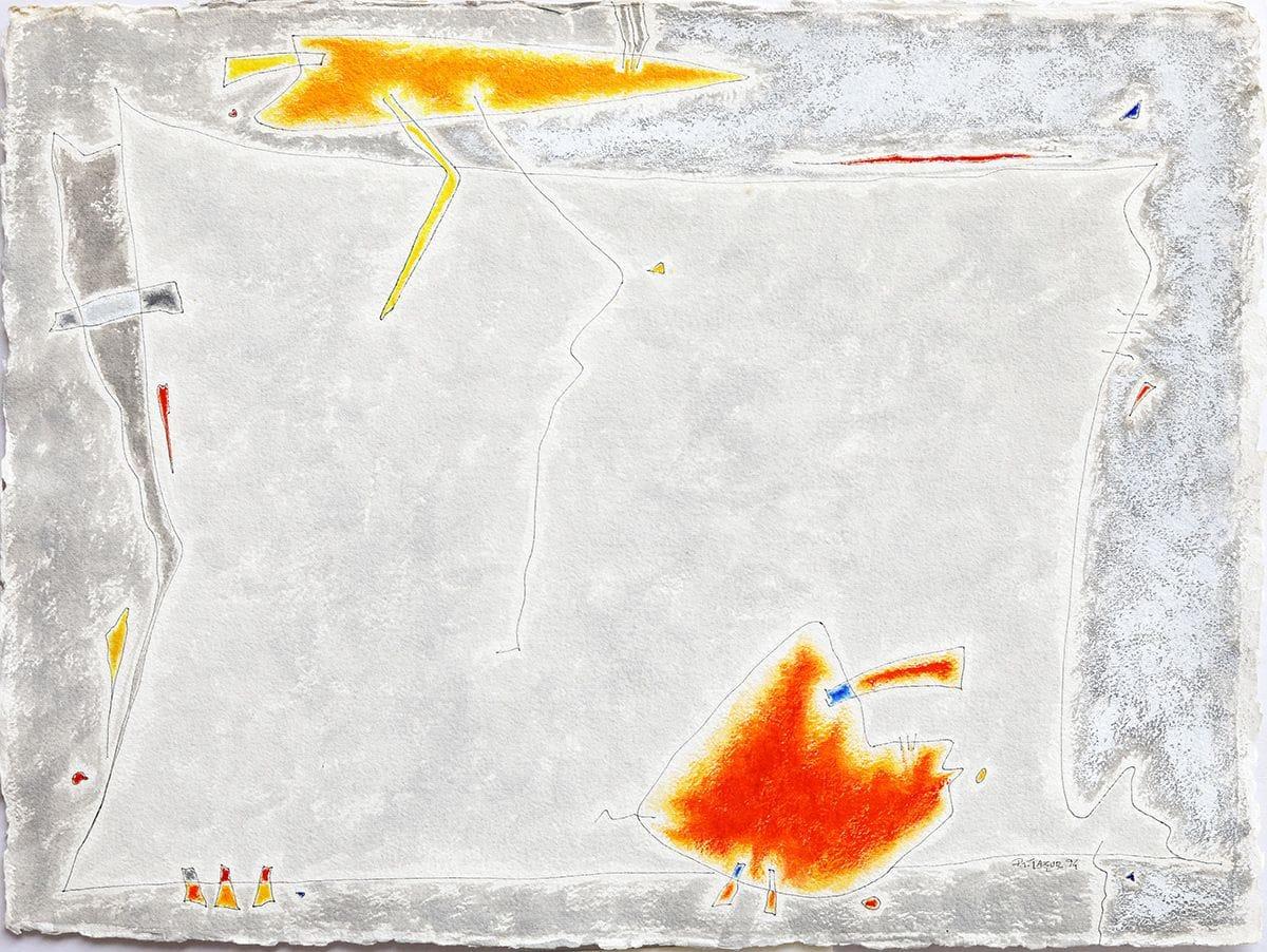 Cinzas e laranja