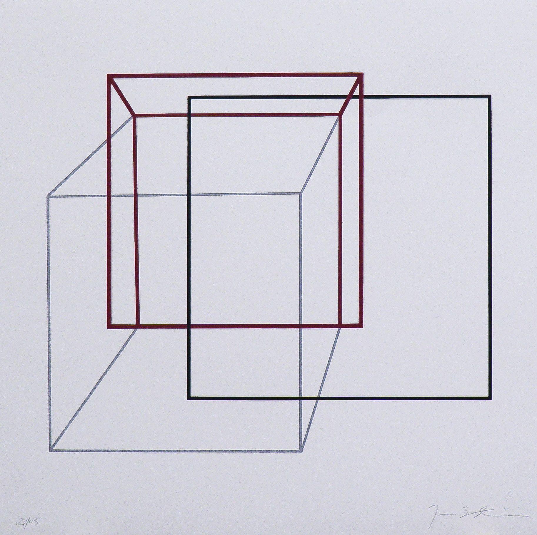 Cubos vermelhos e preto
